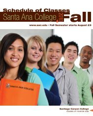Fall 2010 - Santa Ana College