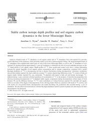 Stable carbon isotope depth profiles and soil organic carbon ...
