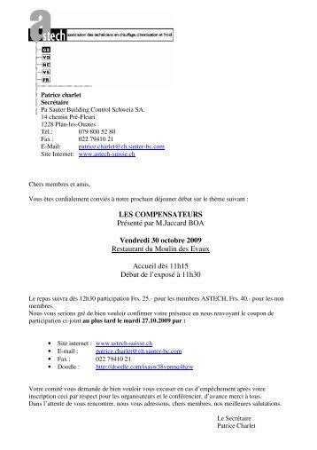 LES COMPENSATEURS Présenté par M.Jaccard BOA ... - Astech