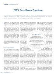 DWS - BasisRente Premium - ITA