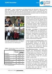 KURS Newsletter - KURS Regierungsbezirk Köln
