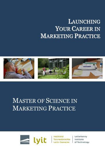 MSC MKT Programme Brochure - Letterkenny Institute of Technology