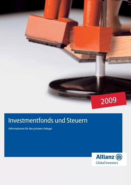 Investmentfonds und Steuern