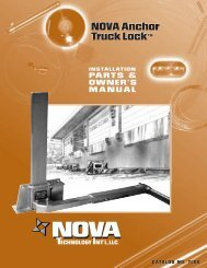 Owner's Manual: Anchor Series 2006-2010 (PDF) - Nova Technology