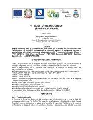 CITTÀ DI TORRE DEL GRECO (Provincia di Napoli) - Comune di ...