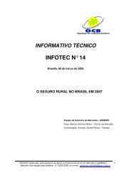 o seguro rural no brasil em 2007 - OCB