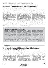 Neues aus dem Landesjugendhilfeausschuss - Landschaftsverband ...