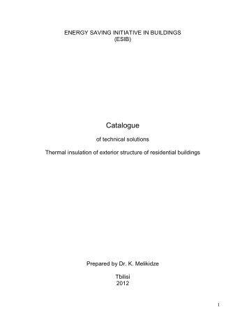 catalogue of technical solutions - Tkibuli Tea
