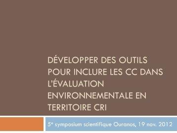 Développer des outils pour inclure les impacts socio ... - Ouranos