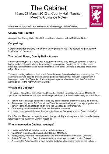 2012 March 21 Public Guidance Notes - Somerset County Council