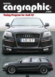 Tuning-Program for Audi Q7 - Cargraphic