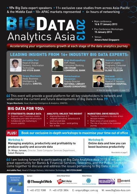 LEADING INSIGHTS FROM 16+ INDUSTRY BIG DATA EXPERTS