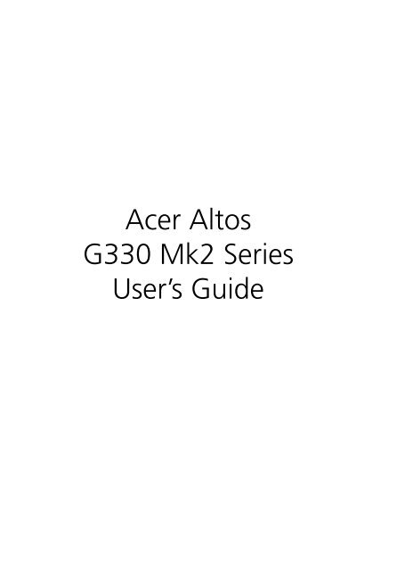 ALTOS G330 MK2 LAN WINDOWS 7 64BIT DRIVER