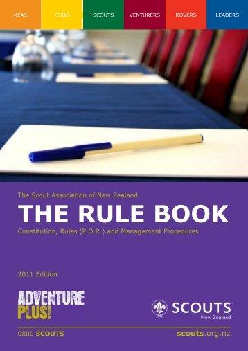 The_Rule_Book - Brooklyn Scouts, Wellington