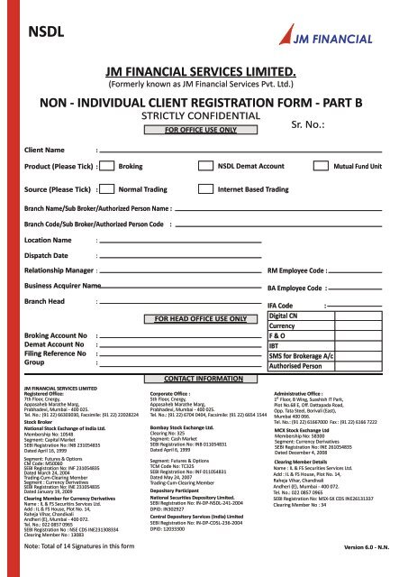 nsdl non individual kyc form part b - JM Financial