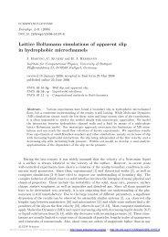Lattice Boltzmann simulations of apparent slip in hydrophobic ...