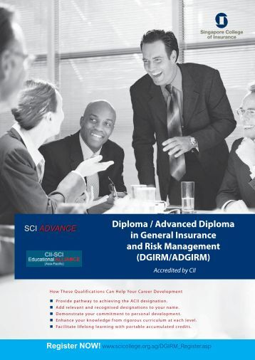Diploma / Advanced Diploma in General Insurance and Risk ...