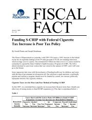 Funding S-CHIP with Federal Cigarette Tax ... - Tax Foundation