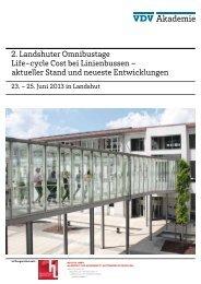 2. Landshuter Omnibustage Life-cycle Cost bei Linienbussen ...