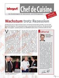 Wachstumtrotz Rezession - Intergast
