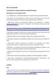 Liste der Publikationen - Zentralinstitut für Regionenforschung ...