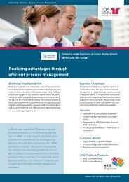 Realizing advantages through efficient process ... - IDS Scheer AG