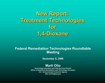 New Report - Federal Remediation Technologies Roundtable