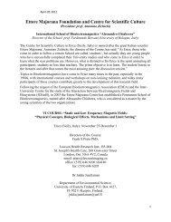 Ettore Majorana Foundation and Centre for Scientific Culture - EBEA