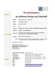 Warmhalteplatte in zeitlosem Design aus Edelstahl