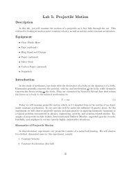 Lab 5: Projectile Motion - Mercury.pr.erau.edu