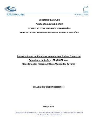AGGEU MAGALHÃES Relatório Curso de ... - Rede ObservaRH