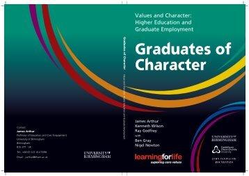 Graduates of Character - University of Birmingham
