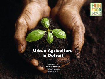 Urban Agriculture in Detroit - Drake University Law School