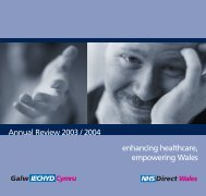 7729 NHSDW annual report - NHS Direct Wales