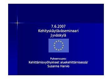 Kehittämisvyöhykkeet - Keski-Suomen liitto