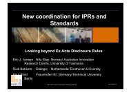 New coordination for IPRs and Standards