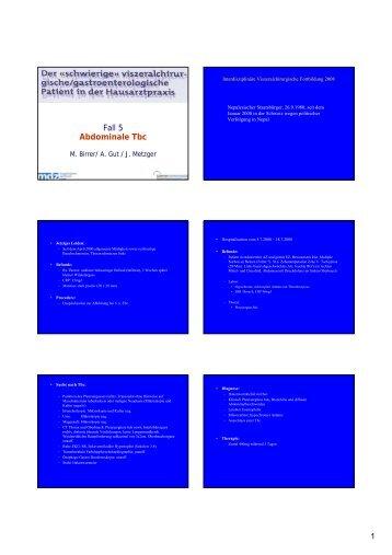 Fall 6 Abdominale Tbc PDF Download [187 kb] M. Birrer