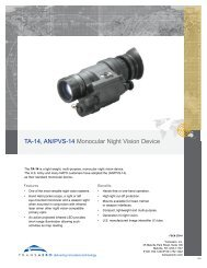 TA-14, AN/PVS-14 Monocular Night Vision Device - Transaero Inc.