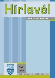 Hírlevél 2008/14 (PDF, 1.25 MB) - Magyar Innovációs Szövetség