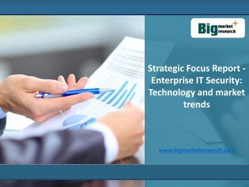 BMR: Strategic Focus Report: Enterprise IT Security: Technology Market Trends,Size