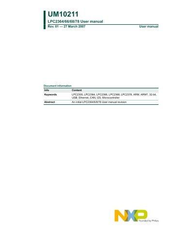 UM10211 - Standard ICs