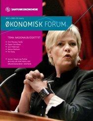 Okoforum nr 8-06 - Samfunnsøkonomene