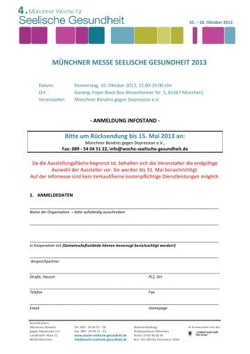 MÜNCHNER MESSE SEELISCHE GESUNDHEIT 2013 - Woche für ...