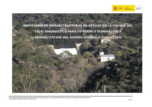 inventario de infraestructuras en desuso en la cuenca del tajo