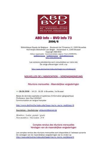 ABD Info – BVD Info 73 - ABD-BVD