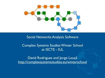 Social Networks Analysis Software Complex Systems ... - iscte-iul