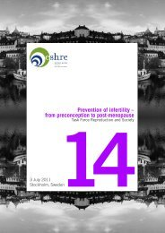 Prevention of infertility – from preconception to post ... - eshre