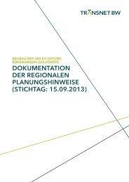 dokumentation der regionalen planungshinweise - TransnetBW ...