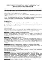 PREVENZIONE E SICUREZZA SUI LUOGHI DI LAVORO ... - Uilpa-Ur