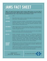 To view or download the JAMS Fact Sheet document in PDF format ...